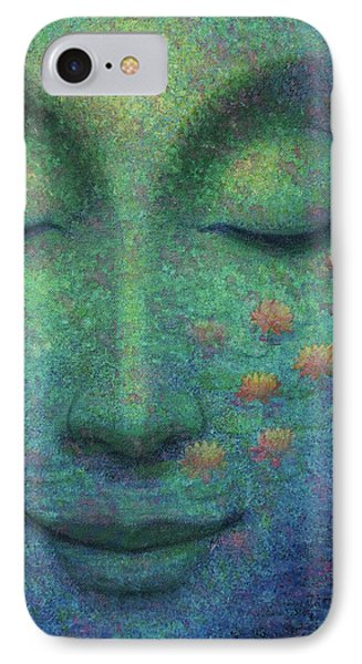 IPhone Case featuring the painting Buddha Smile by Sue Halstenberg