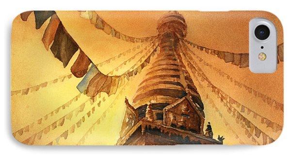 Buddhist Stupa- Nepal IPhone Case
