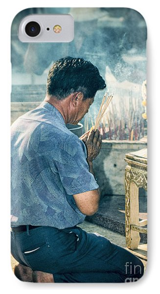 IPhone Case featuring the photograph Buddhist Way Of Praying by Heiko Koehrer-Wagner