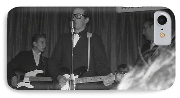 Buddy Holly Onstage At The Surf Ball Room Playing His Last Concert Phone Case by The Titanic Project