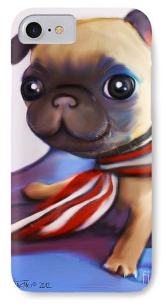 Buddy The Pug IPhone Case by Catia Cho