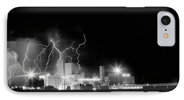 Budweiser Lightning Thunderstorm Moving Out Bw Phone Case by James BO  Insogna