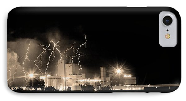 Budweiser Lightning Thunderstorm Moving Out Bw Sepia Phone Case by James BO  Insogna