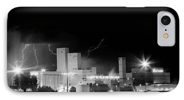 Budwesier Brewery Lightning Thunderstorm Image 3918  Bw Phone Case by James BO  Insogna