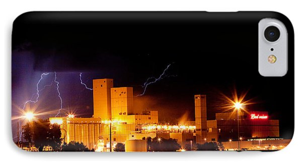 Budwesier Brewery Lightning Thunderstorm Image 3918 Phone Case by James BO  Insogna