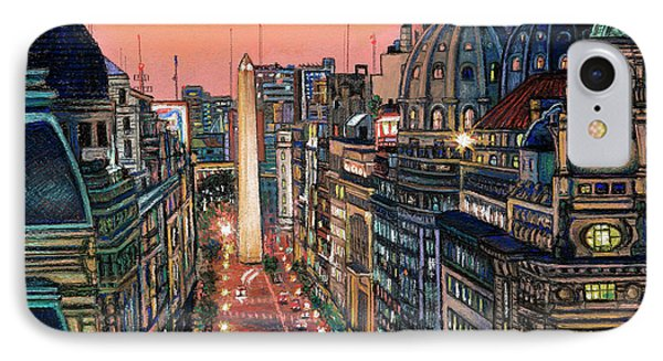 Buenos Aires Twilight IPhone Case by Bernardo Galmarini