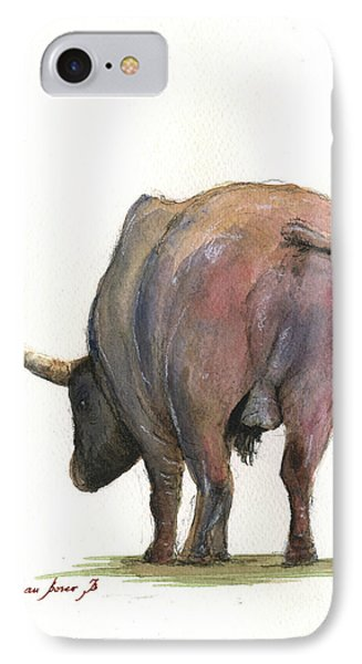Buffalo Back IPhone Case by Juan Bosco