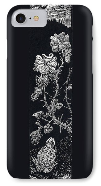 IPhone Case featuring the drawing Buffalo Burr And Toad by Dawn Senior-Trask