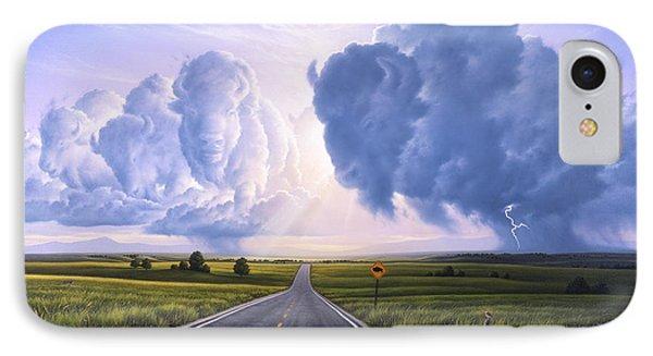 Bison iPhone 7 Case - Buffalo Crossing by Jerry LoFaro