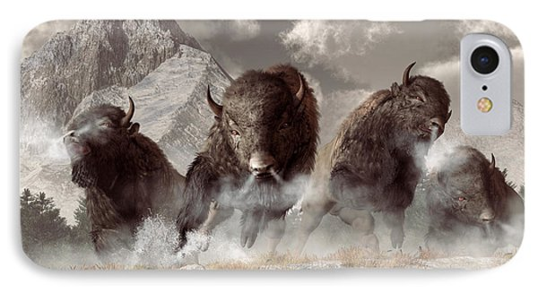 Buffalo IPhone Case by Daniel Eskridge