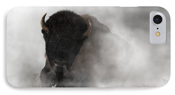 Buffalo Emerging From The Fog IPhone Case by Daniel Eskridge