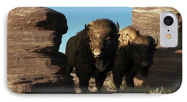 Buffalo Guard IPhone Case by Daniel Eskridge