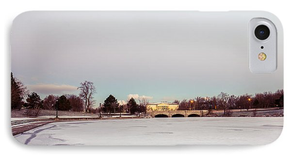 IPhone Case featuring the photograph Buffalo History Museum Across Hoyt Lake by Chris Bordeleau