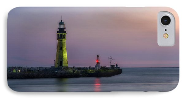 IPhone Case featuring the photograph Buffalo Main Light by Mark Papke