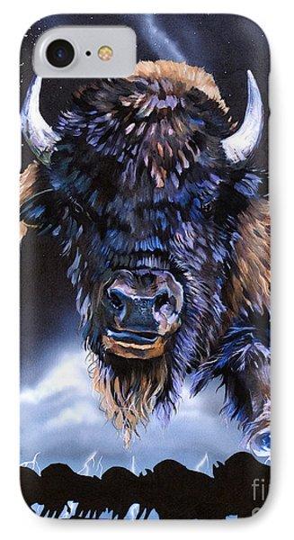 Buffalo Medicine Phone Case by J W Baker