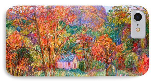 IPhone Case featuring the painting Buffalo Mountain In Fall by Kendall Kessler