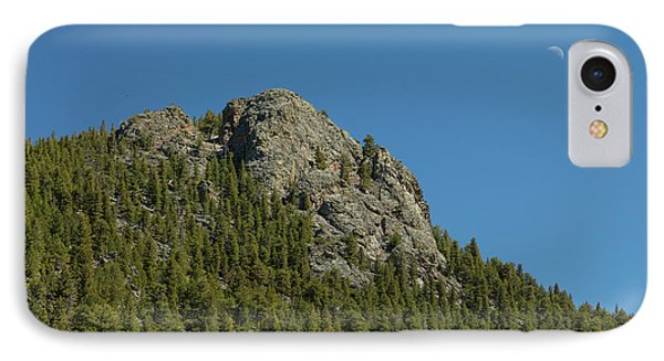 IPhone Case featuring the photograph Buffalo Rock With Waxing Crescent Moon by James BO Insogna