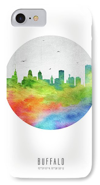 Buffalo Skyline Usnybu20 IPhone Case by Aged Pixel