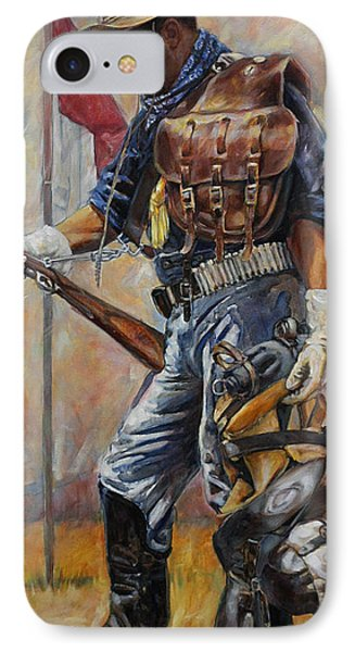 Buffalo Soldier Outfitted Phone Case by Harvie Brown