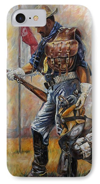 Buffalo Soldier Outfitted IPhone Case by Harvie Brown