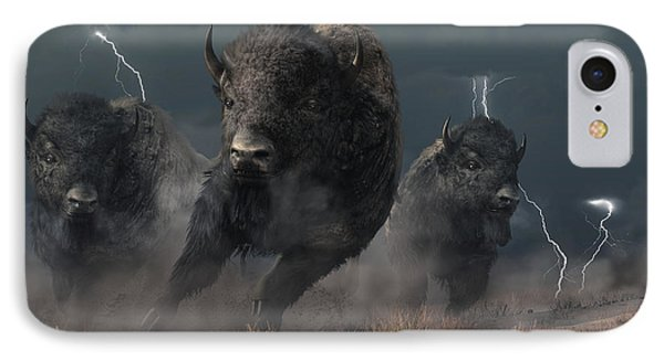 Buffalo Storm IPhone Case by Daniel Eskridge