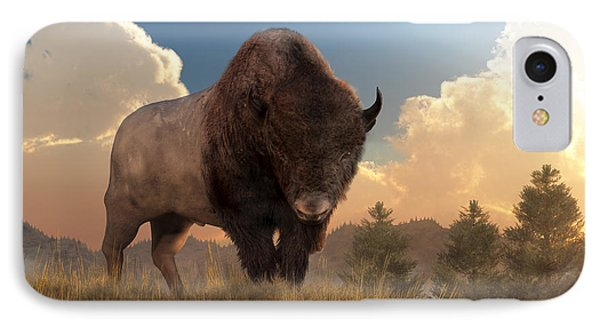 Buffalo Sunset IPhone Case by Daniel Eskridge