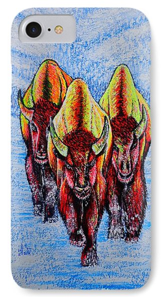 IPhone Case featuring the painting Buffalos by Viktor Lazarev