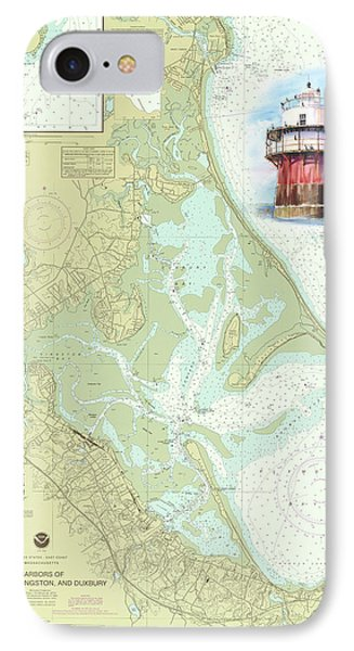 Bug Light On A Noaa Chart IPhone Case by P Anthony Visco