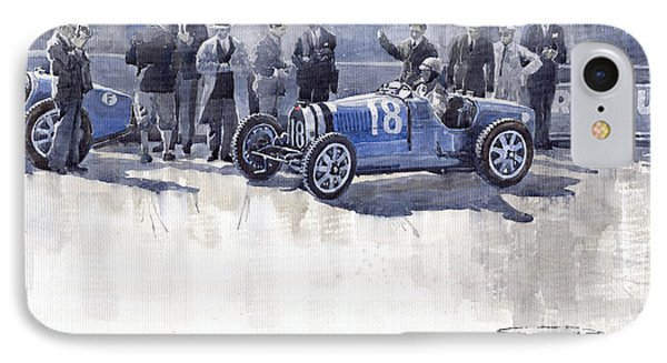 Bugatti 35c Monaco Gp 1930 Louis Chiron  IPhone Case by Yuriy  Shevchuk