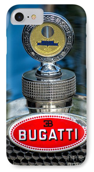 Bugatti Car Emblem IPhone Case by Adrian Evans