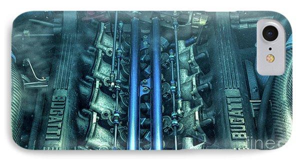 Bugatti Eb110 V12 Engine IPhone Case by Tim Gainey