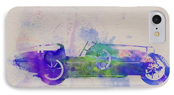 Bugatti Type 35 R Watercolor 2 Phone Case by Naxart Studio