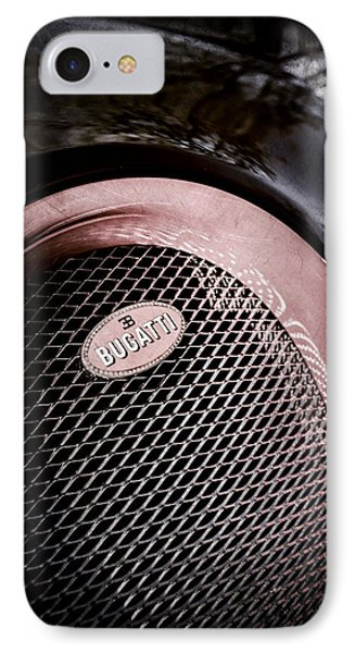 Bugatti Veyron Legend Grille Emblem -0514ac IPhone Case by Jill Reger