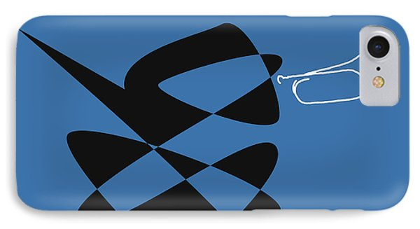 IPhone Case featuring the digital art Bugle In Blue by David Bridburg