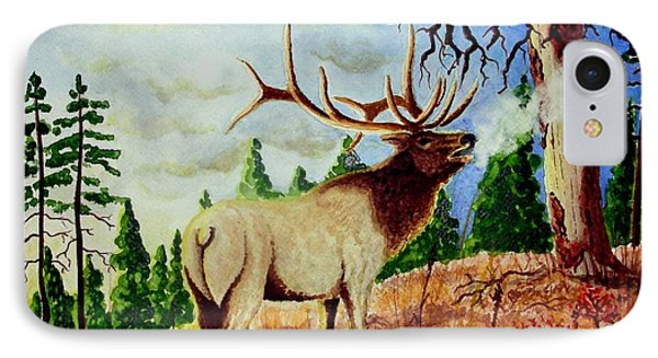 Bugling Elk IPhone Case by Jimmy Smith