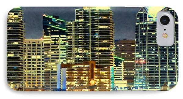 Building At Night With Lights IPhone Case