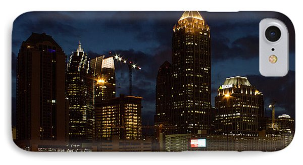 IPhone Case featuring the photograph Building Boom Midtown Atlanta Construction Art by Reid Callaway