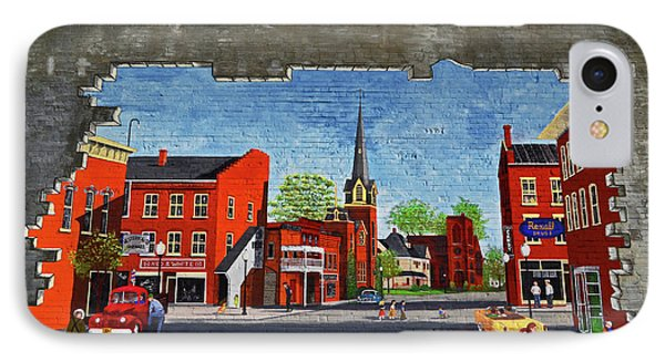 Building Mural - Cuba New York 001 IPhone Case by George Bostian