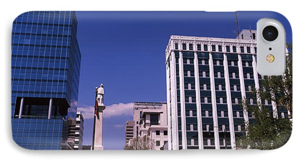 Buildings Near Confederate Monument IPhone Case by Panoramic Images