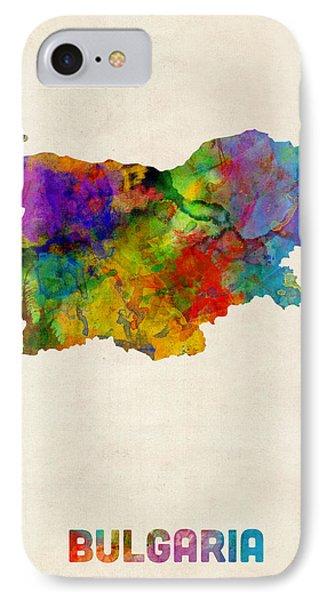 Bulgaria Watercolor Map IPhone Case