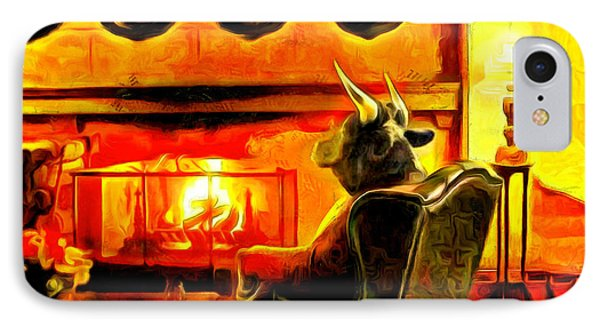 Bull At Night IPhone Case