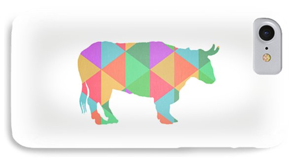 Bull Cow Triangles IPhone Case by Edward Fielding
