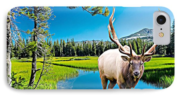 Bull Elk By The Lake IPhone Case