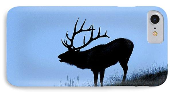 Bull Elk Silhouette IPhone Case