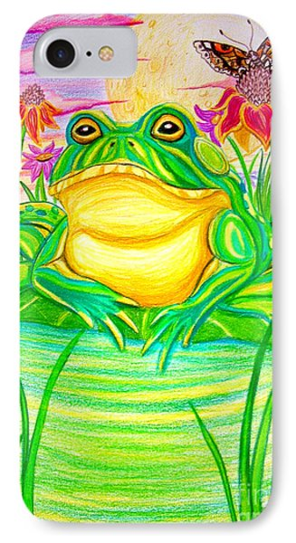 Bull Frog And The Moon IPhone Case