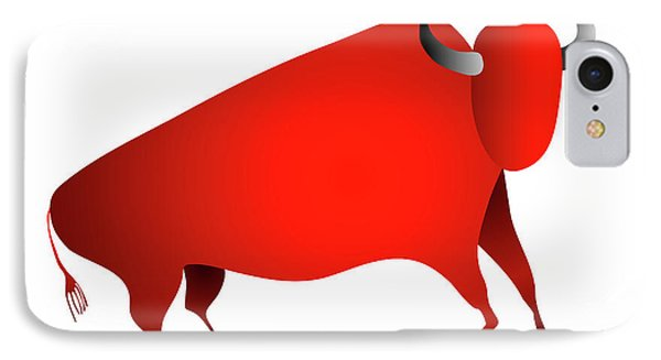 Bull Looks Like Cave Painting Phone Case by Michal Boubin