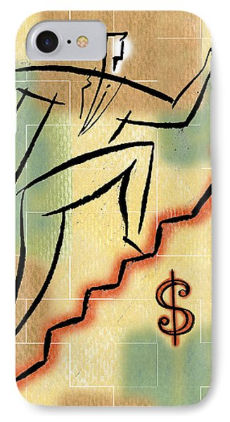 IPhone Case featuring the painting Bull Market by Leon Zernitsky