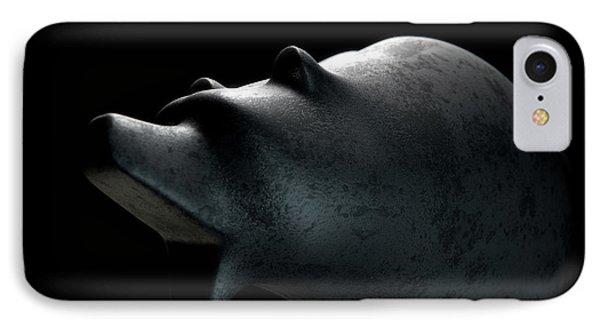 Bull Statue IPhone Case by Allan Swart