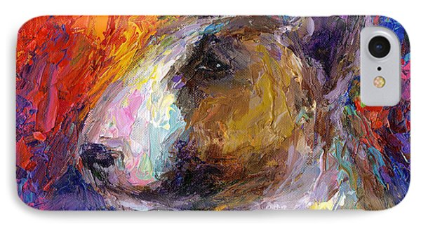 Bull Terrier Dog Painting IPhone Case by Svetlana Novikova