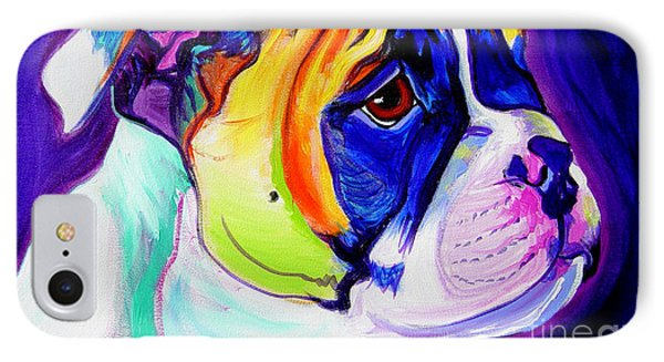 Bulldog - Pup IPhone Case by Alicia VanNoy Call